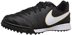 Nike Jungen TIEMPO LEGEND VI TF JR 819191 010 Fußballschuhe, Schwarz (Schwarz/Weiß/Gold), 36 EU
