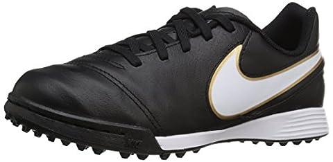 Nike Junior Tiempo Legend VI TF, Football Mixte Enfant, Noir (Black/White Metallic Gold), 37.5 EU