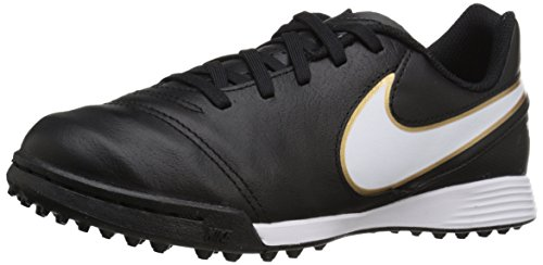 Nike Jr Tiempo Legend Vi Tf, équipement de football mixte adulte Multicolore - Negro / Blanco / Dorado (Black / White-Metallic Gold)