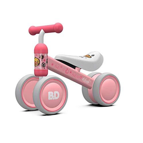 WYX-Trike Kind Baby Balance Fahrrad, Fahrrad Walker Spielzeug Fahrrad Kein Pedal Outdoor Indoor Driving Lernspielzeug 1-3 Jahre Alter Junge Und Mädchen,b (Mädchen Für Spiele Driving)