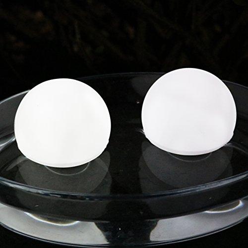 2er Set LED Schwimmkugel LED Kugel Schwimmend - Stimmungslicht für Badewanne, Teich, Pool, Außen 8 cm Weiß von PK Green