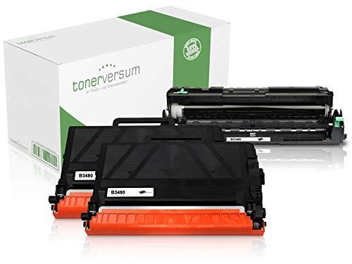 Spar-Set 2X Toner & 1x Trommel kompatibel zu Brother TN-3480 DR-3400 für HL-L5000d HL-L5100dn HL-L5100dntt DCP-L5500dn MFC-L6800dw MFC-L5750dw HL-L5100dnt -