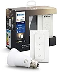 Philips Hue Bombilla inteligente LED E27 con Mando Inalámbrico, con Bluetooth, Luz Blanca de Cálida a Fría, Co