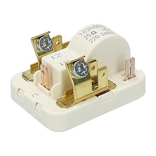 ✧WESSPER® Anlassvorrichtung / Anlaufvorrichtung / Schweranlaufanlassvorrichtung / Start-Relais 103N0021 passend zu Ariston BCB312AI (220-240 V, 25 Ohm) -