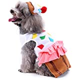Amakunft - Bonito Disfraz de Comida para Mascotas, para Cupcakes, con Sombrero para Perro