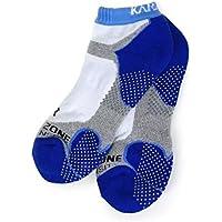 KARAKAL - Calcetines deportivos X4 Quad Density - 1 par - Medias de corte bajo - Transpirable, amortiguadora con suela antideslizante - Adecuado para bádminton, squash, tenis, hockey, running, fitness, vida cotidiana, etc. - Señoras y señores - Blanco / azul marino