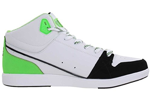 DC Shoes University Mid Women trainer sneaker leather (White/Fluorescent)