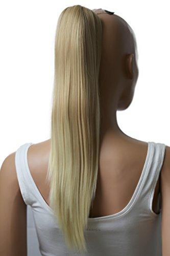 PRETTYSHOP Haarteil Zopf Pferdeschwanz glatt Haarverlängerung hitzebeständig wie Echthaar 50cm blond mix #27T613 H77a