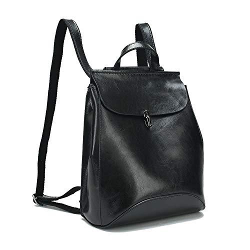 EVEOUT Echtes Leder Rucksäcke für Frauen, Damenmode Leder Rucksack für Laptop Vintage Umhängetasche Geldbörsen für Mädchen (Damen Leder Notebook-rucksack)