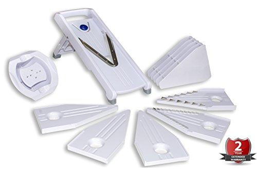 #1 Mandolina profesional de cocina BRUMA 5 en 1 - Incluye cuchillas de...