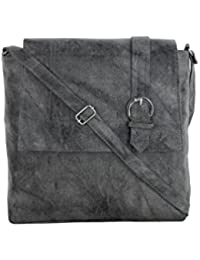 CFI Gray Synthetic Leather Sling Bag For Women / Girls