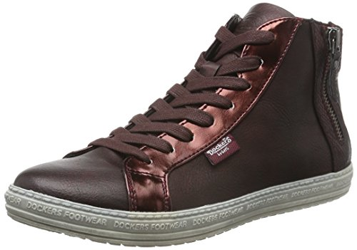 Dockers by Gerli 32ln213-686720, Baskets Basses Femme Rouge - Rot (dunkelrot 720)