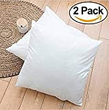 Rohi Set of 2 30cm x 30cm Hypoallergenic Cushion Pad Stuffer Pillow Insert Sham Square Polyester, Standard/White – MADE IN UK (Pack of 2 | 12' x 12')