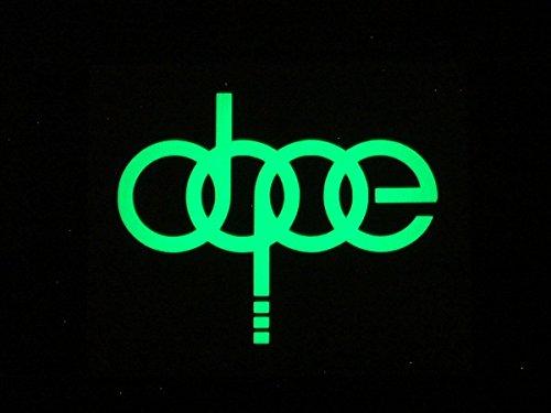 Preisvergleich Produktbild DOPE für Audi Autos,  Glow in the Dark Leuchtziffern die cut vinyl Aufkleber Aufkleber