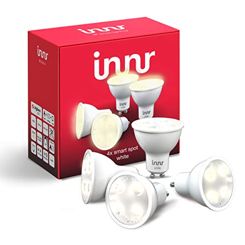 Innr GU10 Smart LED Spot, warmweißes Licht, dimmbar, kompatibel mit Philips Hue* und Echo Plus (RS 225-4) -