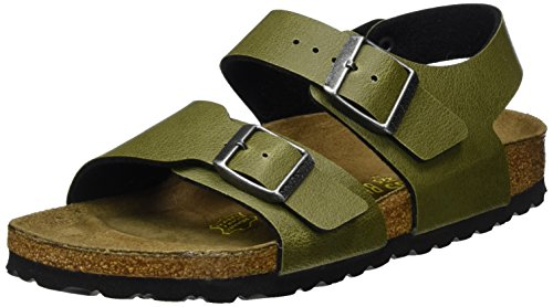 Birkenstock New York Flangia Posteriore Bambino, Verde (Pull Up Olive) 32 EU