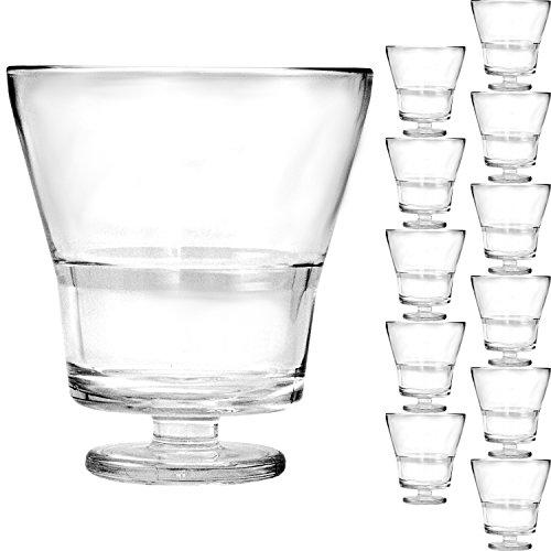 Libbey 12x Elegante 240ml Dessertschalen mit Fuß und STAPELBAR, vielseitig einsetzbar als Dessertglas oder Weinglas