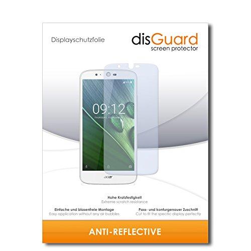disGuard® Bildschirmschutzfolie [Anti-Reflex] kompatibel mit Acer Liquid Zest Plus [3 Stück] Entspiegelnd, Matt, Antireflektierend, Extrem Kratzfest, Anti-Fingerabdruck - Panzerglas Folie, Schutzfolie