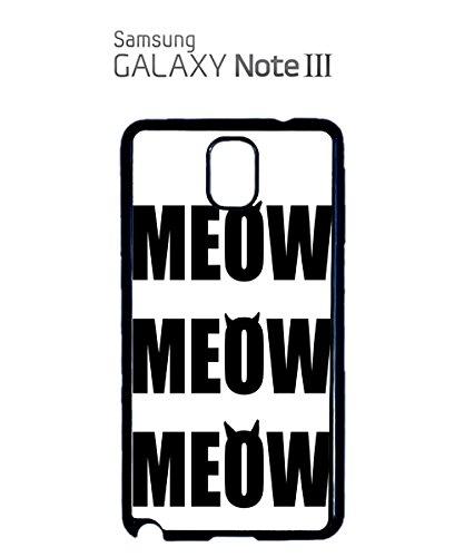Meow Cat Kitten Animal Leopard Mobile Cell Phone Case Samsung Galaxy S5 Mini Black Blanc