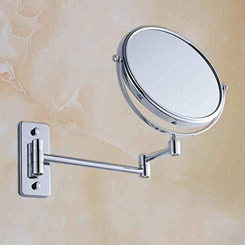 Tragbare Mini Außenspiegel Bad Spiegel Bad Spiegel-/Doppelzimmer Badezimmer Vergrößern Kosmetikspiegel Geeignet Für Schlafzimmer Und Bad (Farbe: A) (Außenspiegel Hardware)