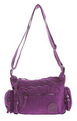 Big Handbag Shop, Borsa a tracolla donna Messenger Style 1 - Violet