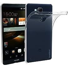 Huawei Mate 7 Funda, iVoler TPU Silicona Case Cover Dura Parachoques Carcasa Funda Bumper para Huawei Ascend Mate 7, [Ultra-delgado] [Shock-Absorción] [Anti-Arañazos] [Transparente]- Garantía Incondicional de 18 Meses