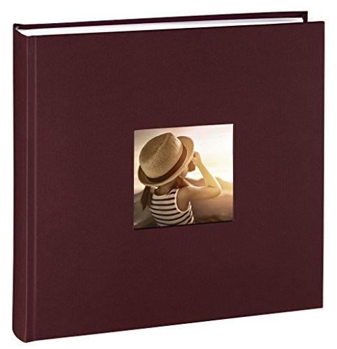 Hama Jumbo Fotoalbum Fine Art (30 x 30 cm, 100 Seiten, 50 Blatt, mit Ausschnitt für Bildeinschub) bordeaux (X 5 5 Art)