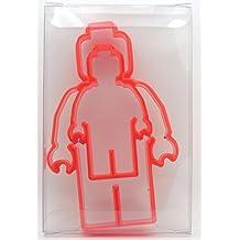 Goggly - Molde para galletas con forma de minifigura Lego, para galletas, postres y fondant, 2 unidades