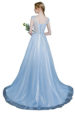 Beauty-Emily -  Vestito  - linea ad a - Donna Baby Blue