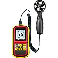 YMXLJJ Haute Précision Anémomètre numérique 0~ 45m/S Affichage à Cristaux liquides Convient pour Power Generation industriels, Météo, Surveillance Portable Industriel Instruments Rouge