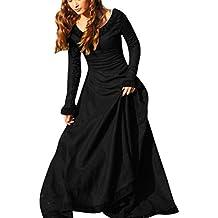 vestidos de mujer, Sannysis vestidos de fiesta largos de noche Vestidos medievales vintage Disfraz Cosplay renacentista gótica para princesa Vestido de playa maxi atractivo 2017 barato