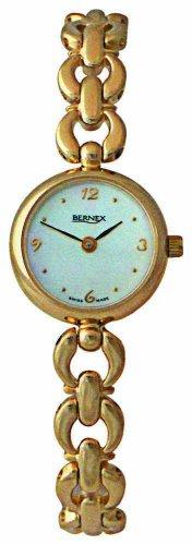 Bernex GB11120 - Reloj de mujer de cuarzo, correa de plástico color negro