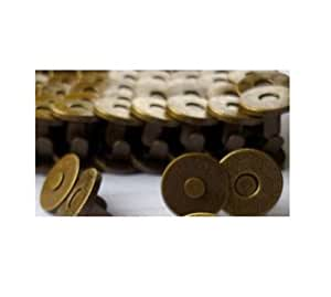 20 - 40 Sets Magnetic Bag Clasps 14mm -- 18mm Great for Sewing, Craft, Clothing, Bag, Scrapbooking, and More Silver and Bronze (bronze, 20 pcs x 14mm)