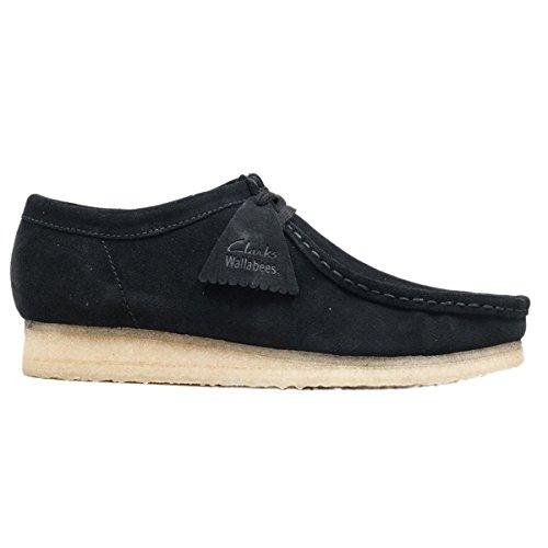 Clarks Originals Mens Black Wallabee Suede Shoes