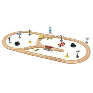KidKraft 17213 Disney® Pixar Cars 3 Juego de madera Construye Tu Propio Circuito con 57 piezas de juego incluidas