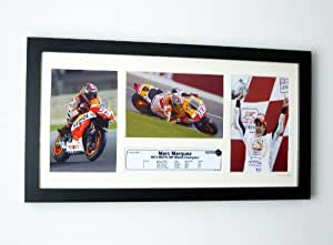 Marc Marquez Repsol Honda 2013 MOTO GP World Champion Limited Edition of 250 Framed Photographic Set With Certificate of Authenticity