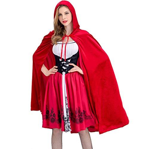 dult Lady Sexy Mantel Rotkäppchen Maskerade Bühnenkostüm,M ()