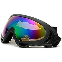 ITODA Lunettes Moto Ski Velo Unisexe Anti-UV Antibuée Lunette de Soleil  Polarisé réglable Coupe b27a7b1af108