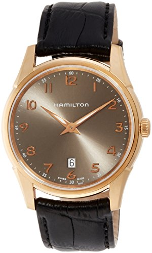 HAMILTON MEN'S JAZZMASTER THINLINE QUARTZ 42MM LEATHER BAND WATCH H38541783