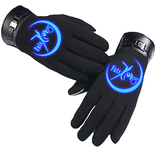 Bromeo Fate Zero Fate stay Night Anime Hiver Chaud Lumineux Écran Tactile Gants Gloves Mittens Noir 8