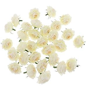 non-brand Sharplace 30x Brote Cabeza de Flor Camelia Artificial Hecho de Seda Accesorios Decorativos para DIY Bricolaje