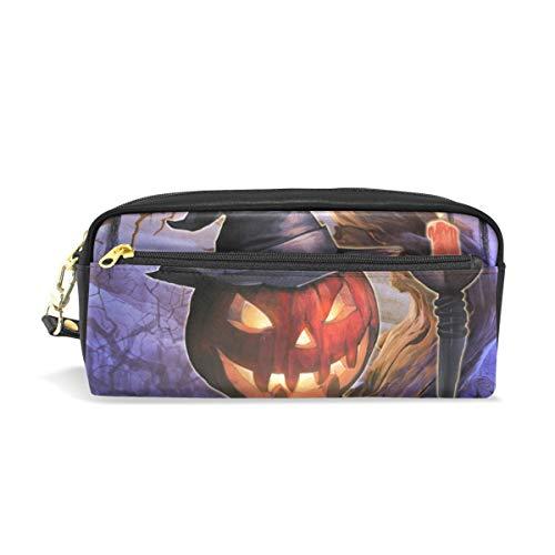 re Halloween Kürbis Zauberer Bleistift Taschen tragbare Tasche für Schule Kinder Kinder Kosmetiktasche Make-up Beauty Case ()