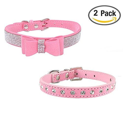 Newtensina 2 Piezas Collar Perro Elegante Conjunto