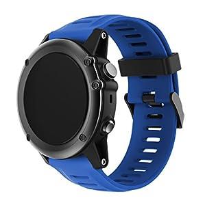 Garmin Fenix 3/Fenix 5 x reloj banda, Yayuu suave silicona reloj accesorio correa de repuesto para SMART Garmin Fenix 3/Fenix 3 HR/Fenix 5 x reloj, blanco de YaYuu