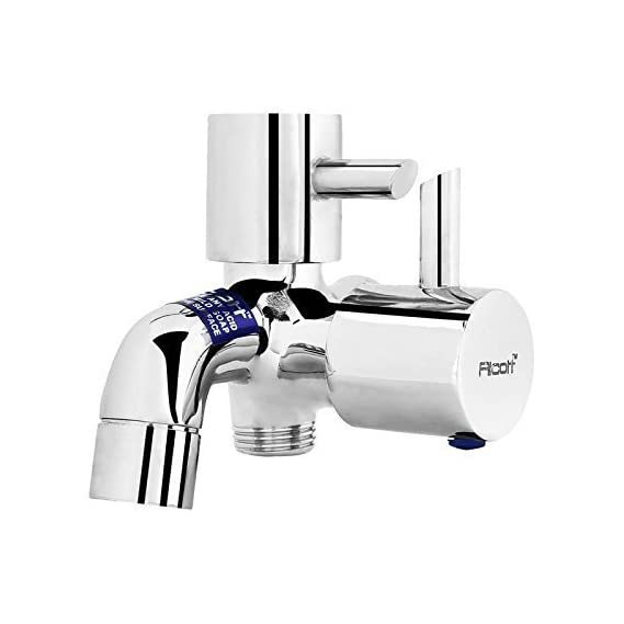 SBD Brass Chrome Plated 2 Way Bib Cock/Tap Faucet Cubix (Glossy, 3x3-Inch)