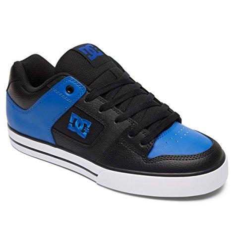 DC Shoes Pure Slim Shoe, Chaussures de skate homme Black/Blue/White