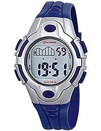 Señoras azul Digital reloj de cuarzo–deportes temporizador, alarma, resistente al agua