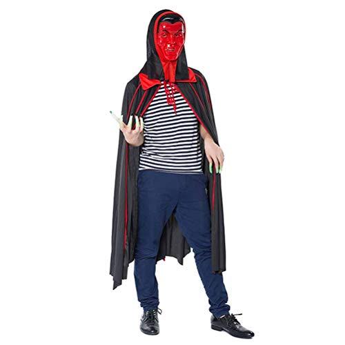 BESTOYARD Fledermaus Vampir Cape Maske Halloween Party Karneval Kostüm Mit Kapuze Umhang (Bat Boy Kostüme)