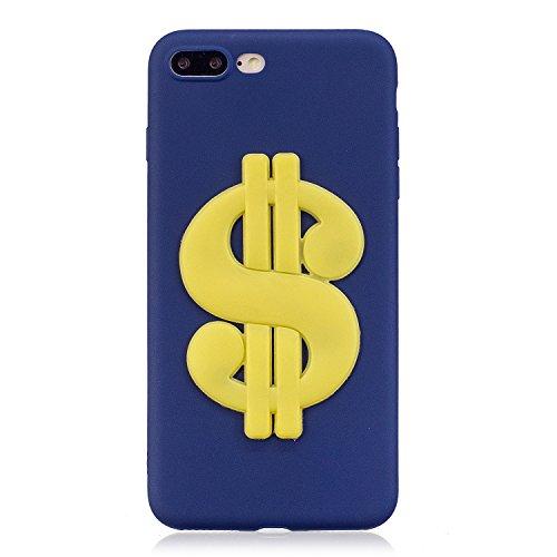 Cover Per Iphone 8 plus /Iphone 7 plus 5.5 pollici, Vandot 360° Full Body Cover Per Iphone 8 plus /Iphone 7 plus 5.5 pollici Silicone Case Molle di TPU Trasparente Sottile Custodia Per Iphone 8 plus / Cute 3