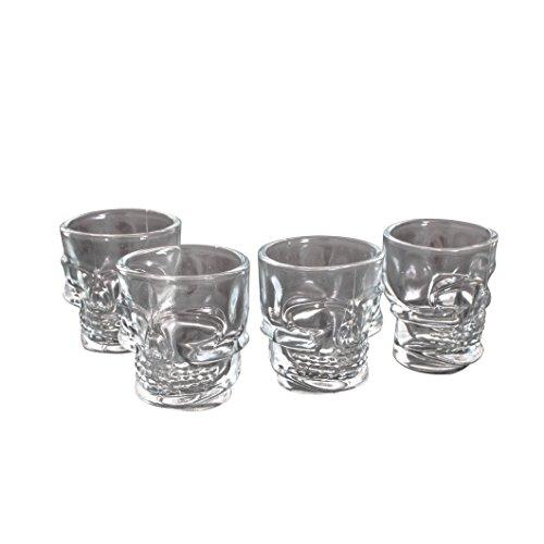 Thumbs Up! Vasos de Chupitos de Calavera, 5x6x4.3 cm, 4 Unidades
